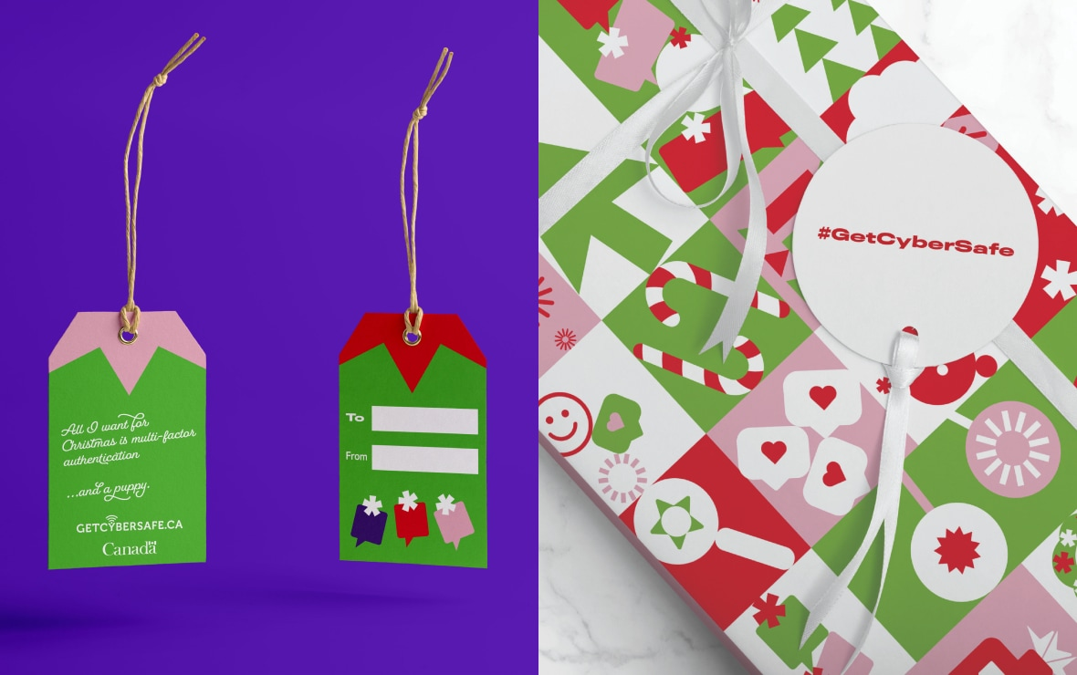 Get Cyber Safe gift tags and wrapping paper