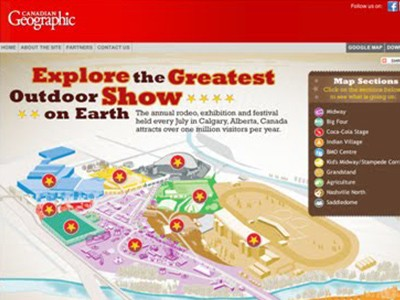 Calgary Stampede Map Putting The Calgary Stampede on the Map   Banfield Agency  Calgary Stampede Map