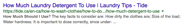 An example of a search for detergent that could be useful from a voice marketing strategy perspective,.