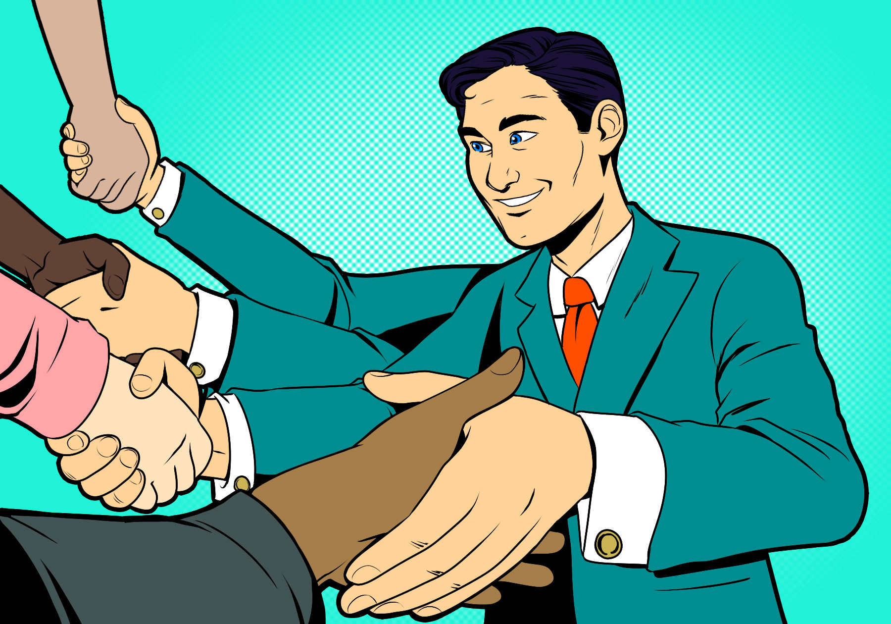 Illustration for a article on account-based marketing