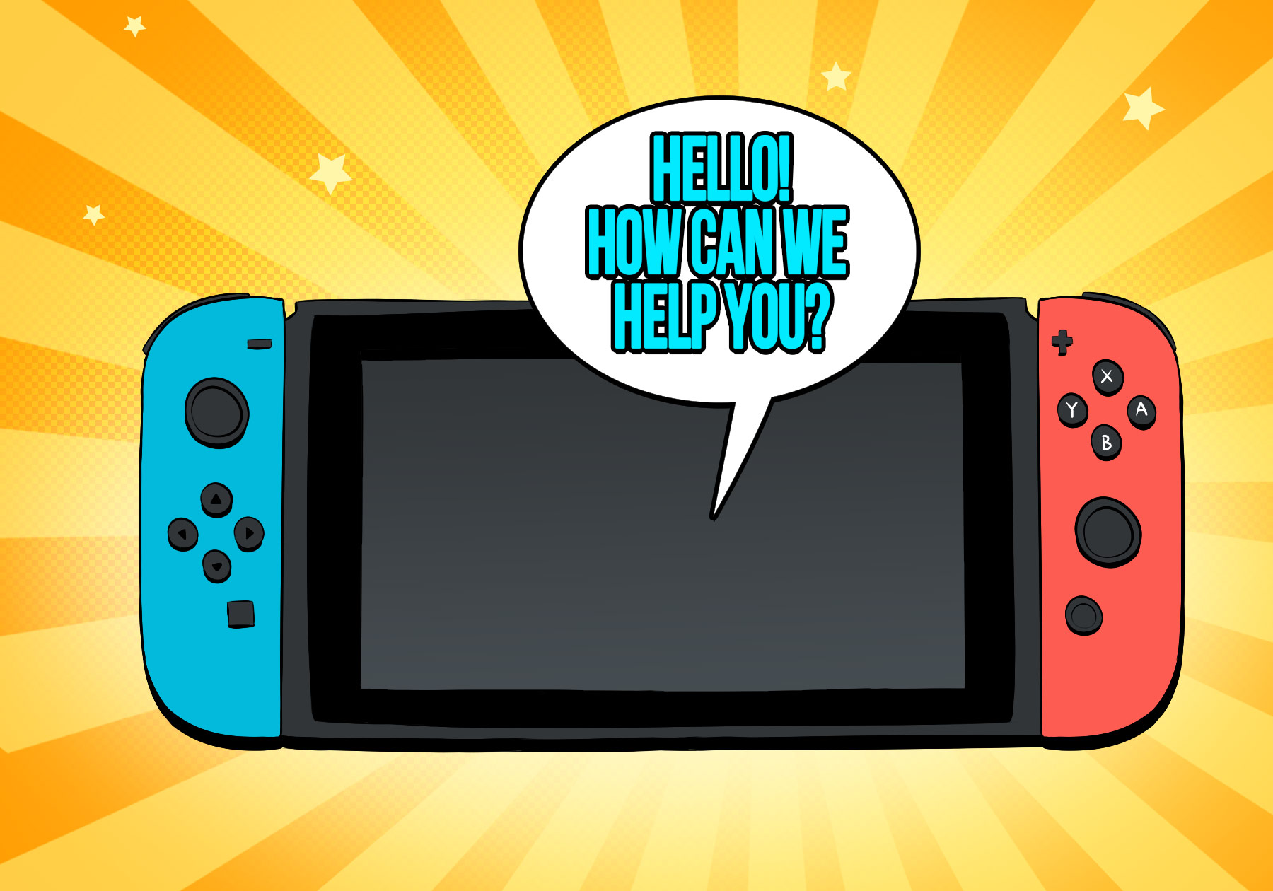 An illustration accompanying an article on Nintendo's content marketing
