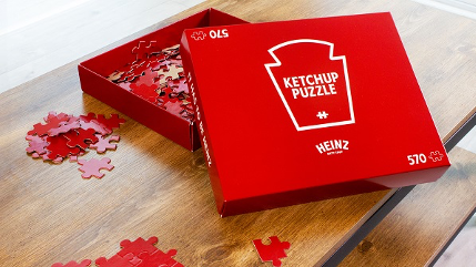Heinz branded monochromatic red puzzle